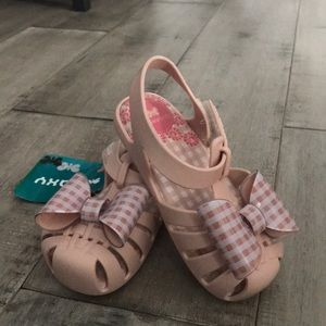Zaxynina pink sandals with bow 8t
